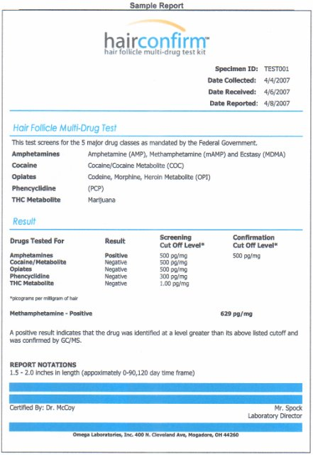 hairconfirm hair drug test screening test kit